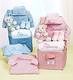 Royal Welcome New Baby Boy or Girl Gift Basket