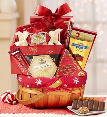 Snowy Surprises Holiday Gift Basket