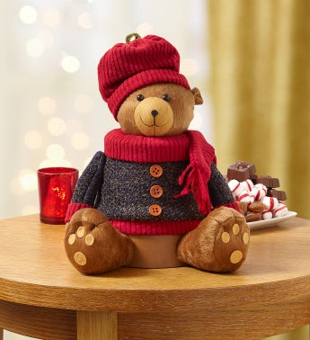 Festive Bear Plush Sweets Tower