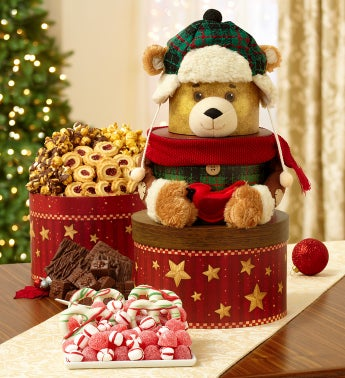 Woodland Bear Sweets Gift Tower