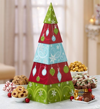 Heartwarming Holiday Tree Sweets Tower