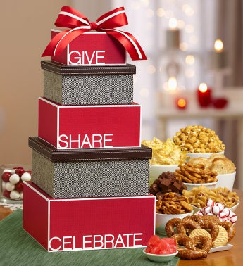 Give Share Celebrate Gourmet Gift Tower
