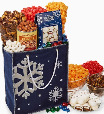The Popcorn Factory® Snowy Night Felt Tote