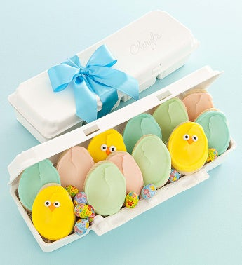 Cheryl's Easter Egg Carton Cutout Cookies