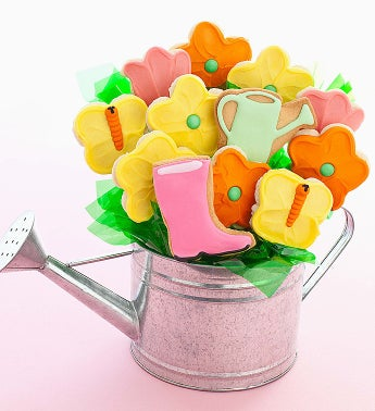 Cheryl's Watering Can Cookie Flowers