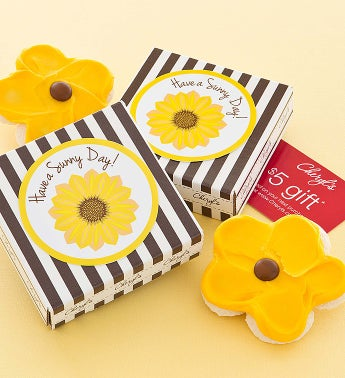 Cheryl's Have A Sunny Day Sunflower Cookie Card