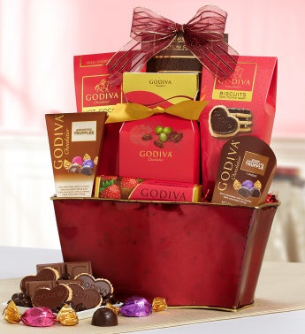 Godiva®  Be My Valentine Chocolates Basket
