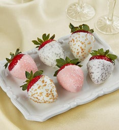 Champagne Celebration Dipped Strawberries