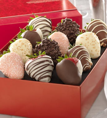 Love  Romance Chocolate Strawberries
