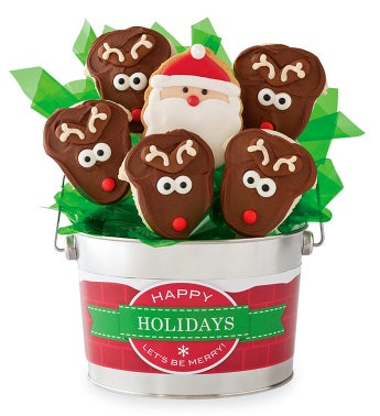 Cheryl's Santa Cookie Flower Pot