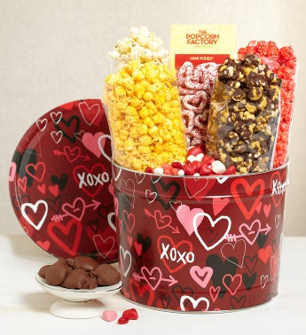 The Popcorn Factory® Graffiti Hearts Snack Asst