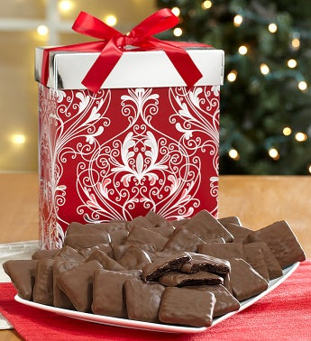 Chocolate Fudge Covered-Mint Cookie Gift Box