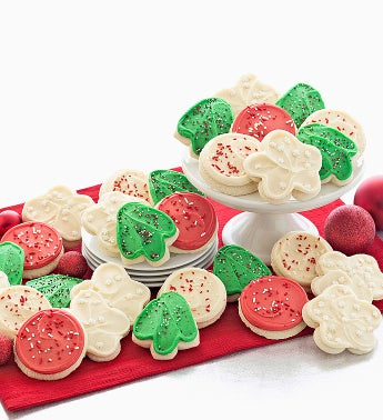 Buttercream Frosted Holiday Cutout Cookies
