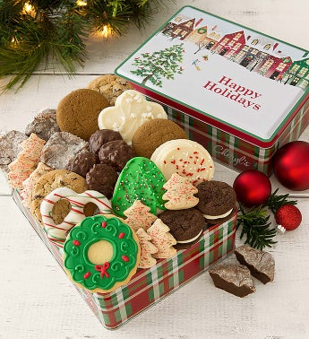 Cheryl's Warm Holiday Wishes Gift Tin with Treats