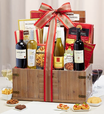 Winter Wine Celebration 4 Bottle Wine Trunk