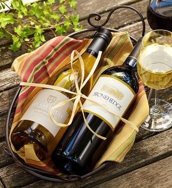 Best of Napa Chardonnay & Merlot Wine Basket
