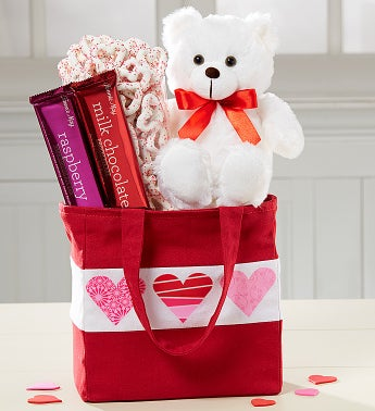 True Love Teddy Bear Tote