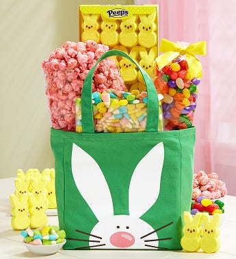 Easter Bunny Gift Tote with Treats