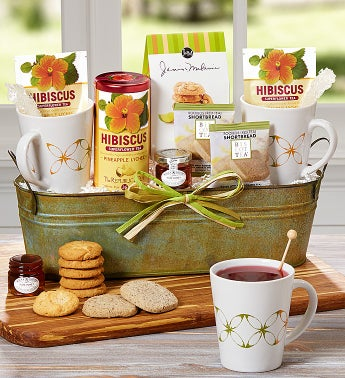 Tea For Two Basket Featuring The Republic of Tea®