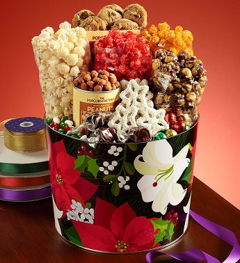 The Popcorn Factory® Winter Floral Snack Asst.