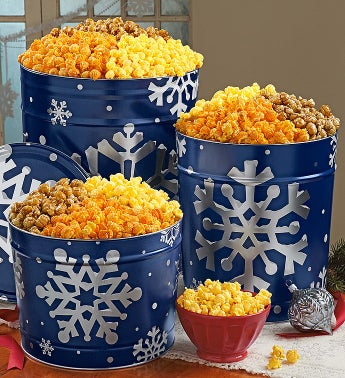The Popcorn Factory® Snowy Night Popcorn Tins