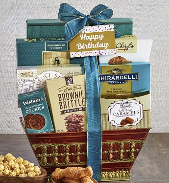 Majestic Grandeur Happy Birthday Gift Basket