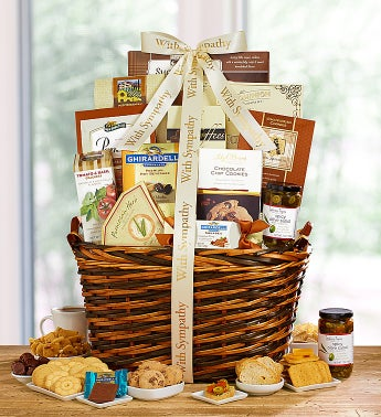 Our Sincere Condolences Sympathy Gift Basket