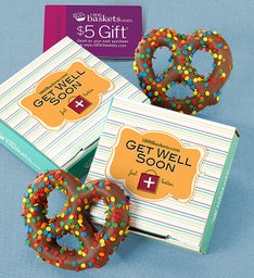 Get Well Soon Pretzel Card
