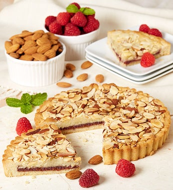 Enticing Raspberry Almond Cookie Pie