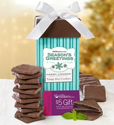 Season's Greetings Fudge Mint Cookie Present