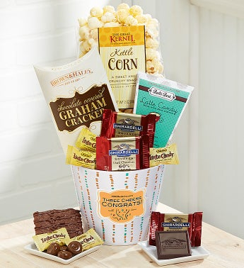 Three Cheers Congrats! Sweet Greetings Basket