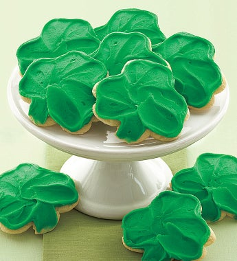 Cheryl's Frosted Shamrock Cookies