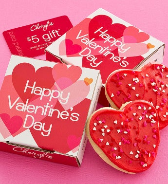 Cheryl's Layered Hearts Valentine Cookie Card