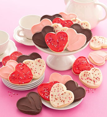 Cheryl's Heart Shaped Frosted Cut-Outs
