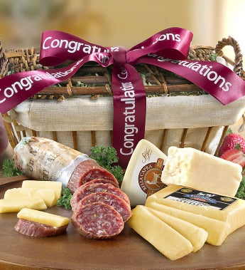 Congratulations Sausage & Cheese Gift Basket