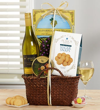 Sweet Bliss Chardonnay Wine Gift Basket
