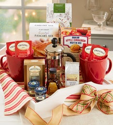 Holiday Retreat Breakfast Tray Gift with Mugs