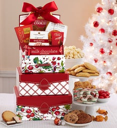 Berries & Holly Gourmet Trunk Tower