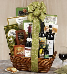 Holiday Celebration Wine and Gourmet Basket