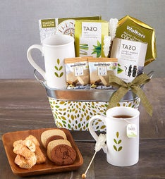 Relax & Nuture Tea Basket featuring Tazo® Teas