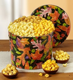 Popcorn Factory Fall Colors 3 Way Popcorn Tin