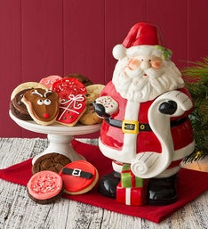 Cheryl's Collectors Edition Santa Cookie Jar