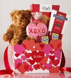 From My Heart Valentine Bear & Sweets Basket