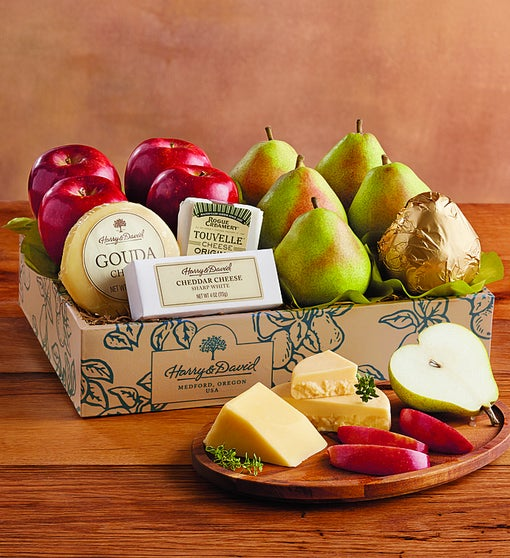 Harry & David® Pears, Apples & Cheese Gift