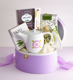 Tea Time Keepsake Box with Tea Pot