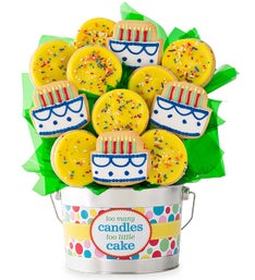 Cheryl's Too Many Candles Cookie Flower Pot 12ct