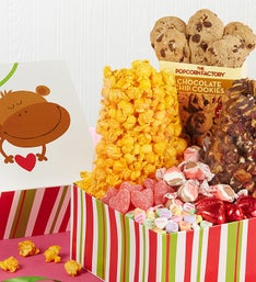 The Popcorn Factory Monkey Love Sampler Box