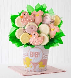 Cheryl's Baby Girl Cookie Flower Pot - 12ct