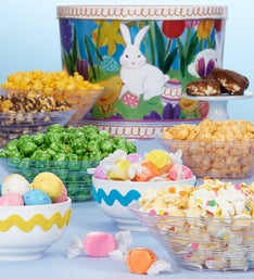 The Popcorn Factory Easter In Bloom Snack Asst Tin