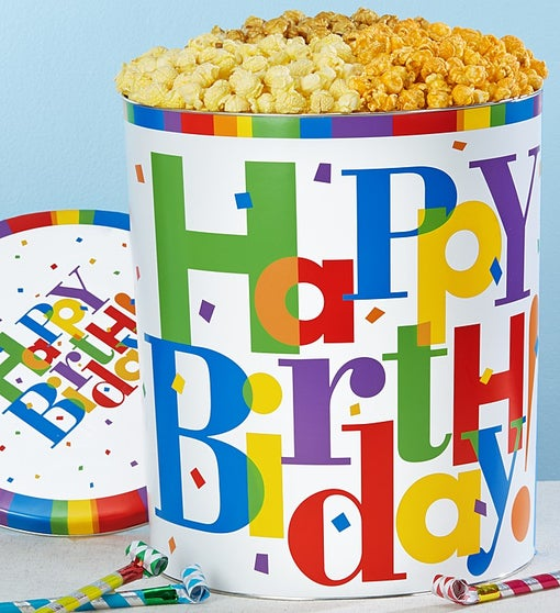 The Popcorn Factory Big Birthday Popcorn Tin